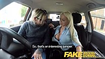 Fake Driving School Busty blonde Barbie Sins wa...