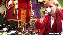 Busty granny tastes yummy cock image