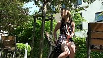 Teen flashing babe Lauras outdoor nudity and masturbation Preview