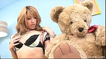 Gorgeous Hatsuka Kobayashi with her Teddy toys ...