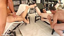 Carla C and Brigit shares a load of cum after h...