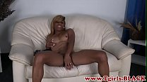 Black tranny strips out of her lingerie