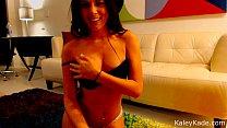 Brunette Babe Kaley Kade Striptease with Webcam