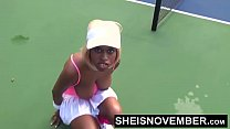 60fps Sporty Ebony Tennis Player Msnovember Get... thumb