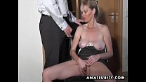 Naughty amateur Milf sucks and fucks with cumshot Thumbnail