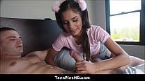 Tiny Latina Stepsister Creampie Preview