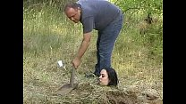Forest bdsm burial and bizarre domination of crying slavegirl thumbnail
