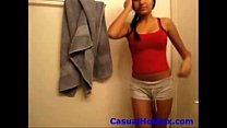 CasualHotSex.com - Strip! Hottie strips on webcam for all to see - xH (new) Thumbnail