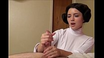 Princess Leia masturbating Luke Skywalker