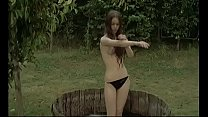 Zombie Lake: Sexy Topless Girl Outdoor Bath
