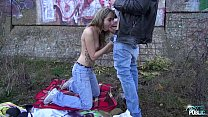 Teen punk girl first time public sex with stranger dude thumbnail