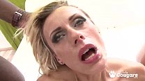Brittany Puts Three Big Dicks Inside Her At The...
