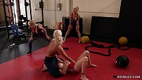 Fit MILFs Having Lesbian Sex In The Gym - London River, Kit Mercer صورة