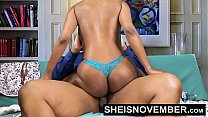 5020 Pornstar Msnovember Riding Her Slim Hips With Big Ass Ebony Hardcore Fuck HD Sheisnovember preview