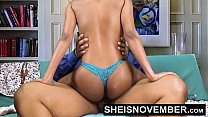 9837 Pornstar Msnovember Riding Her Slim Hips With Big Ass Ebony Hardcore Fuck HD Sheisnovember preview
