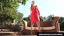 Penthouse Pet Jelena Jensen Removes Red Dress & Bangs Bush!