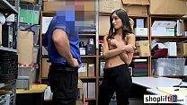 Petite Brunette  Teen Caught By A Corrupt Lp O  A Corrupt Lp Officer