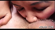Thai girl grinds on a dick and gets it in her pussy and anal