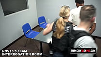 CFNM sex in the interrogation room