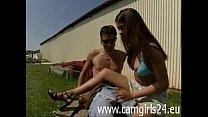 Wunderschöne junge Deutsche wird draußen gefickt www.camgirls24.eu Vorschaubild