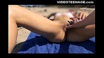 blonde 19 years old teen at beach