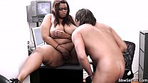 He licks and fucks her fat black hole Preview