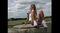 blonde teen uspkirt with no panties thumb