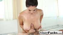 Alison Tyler gives a sexy blowjob and boob fucking thumbnail