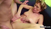 Grandma Caught Grand Son Watch Porn and Help with Fuck Vorschaubild