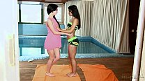 Ria Rodriguez  & Sandra Luber in Fucking After A Swim HD  From Fame Digital  Daring Sex
