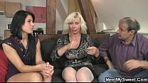 Dirty 3some leisure with son's girlfriend