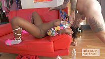 Sexy Black Teen Fucked Rough on Hookup Hotshot preview image