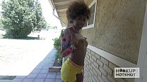 Sexy Black Teen Fucked Rough on Hookup Hotshot Preview