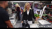 Amateur does a irrumation stimulation in the store and she humps thumbnail