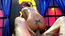Silvia dellai shows anal and oral gangbang with swallow