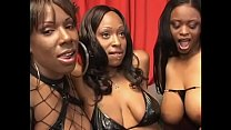 Hardcore lesbian action with three black sluts Lola Lane, Xxxplicit, Skyy and their sex toys