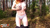 19495 Redhead Girl Sucked and Hard Fucked in the Forest preview