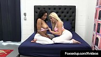 Asian Latina Cristi Ann & Ebony Jenna Foxx Finger Bang &More