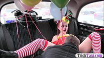 Gal in clown costume fucked by the driver for free fare thumbnail