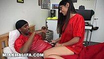 MIA KHALIFA - Busty Arab Babe Sucks Big Black Cock While Pervert Watches