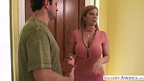 Sara Jay swallows a ride-share drivers load! Naughty America - 9Club.Top