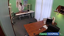 Fake Hospital G spot massage gets hot brunette patient wet pornhub video