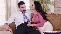 MILF using her big boobs and pussy to seduce a guy