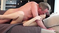 Old man Warming up my young pussy and cums in my mouth I swallow it صورة