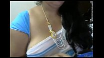 Indian aunty with big boobs on webcam exposed