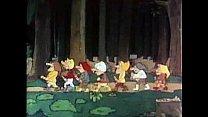 snow white and the 7 dwarves cartoon صورة