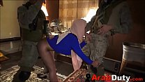 Arab Working Girl Fucked By Soldiers On Tour of Duty صورة