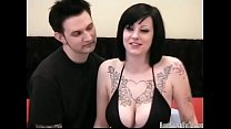 Busty tattooed amateur in homemade sex video porn image