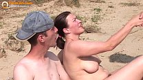 Real amateur threesome on the beach's Thumb