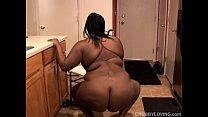 Big beautiful busty black BBW fucks her fat juicy pussy Image